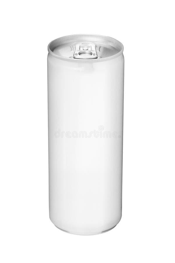 De drank kan van leeg aluminium stock foto