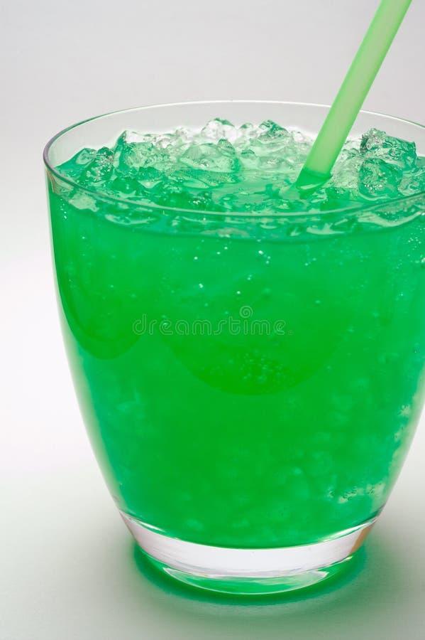 De drank van de munt met verpletterd ijs ( stock afbeeldingen