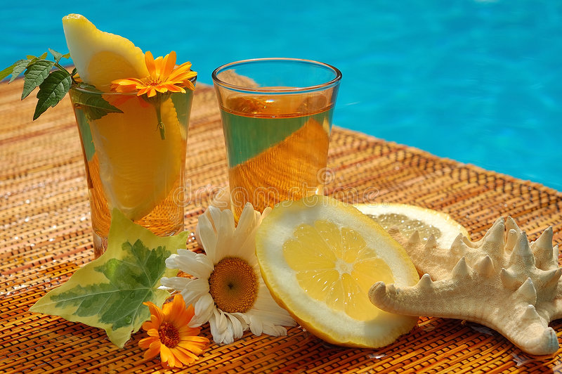 De drank van de zomer royalty-vrije stock fotografie