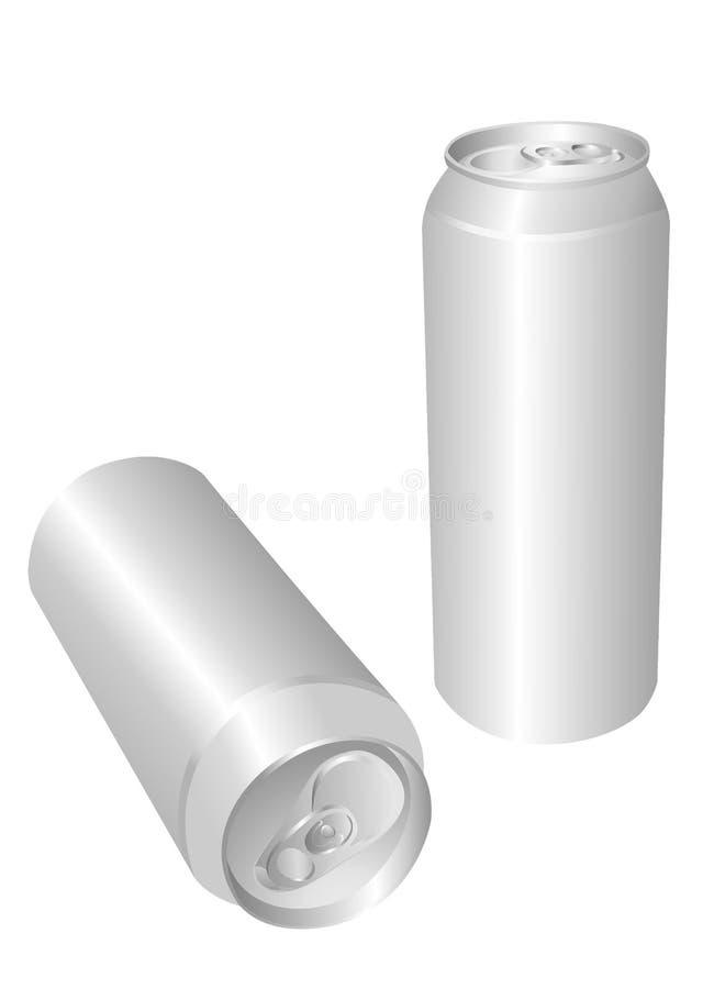 De drank van het aluminium kan royalty-vrije illustratie
