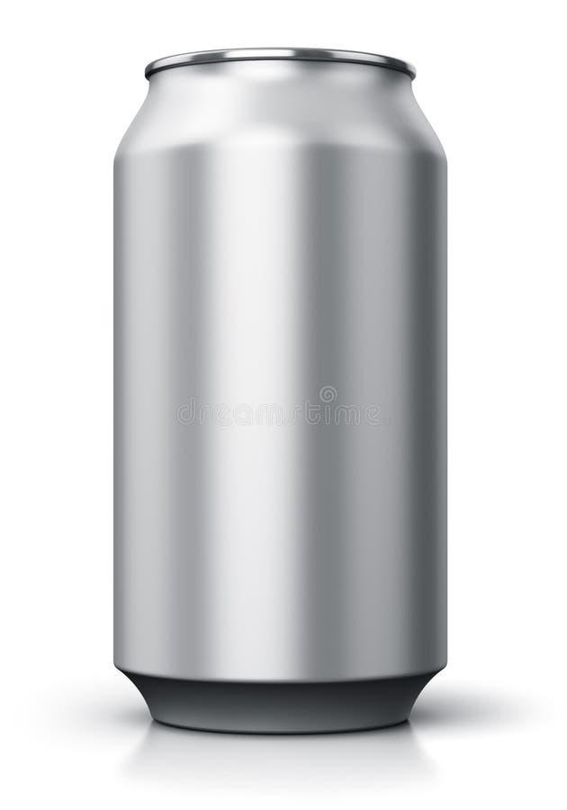 De drank van het metaal kan vector illustratie