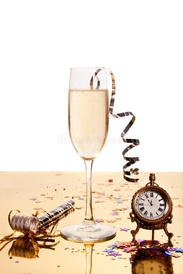 De drank van het nieuwe jaar stock afbeelding
