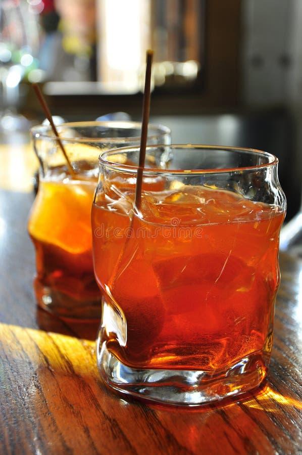 De drank van Spritz, traditioneel aperitief in Venetië stock foto's