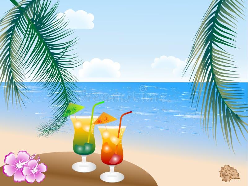 De dranken van de zomer royalty-vrije stock afbeeldingen
