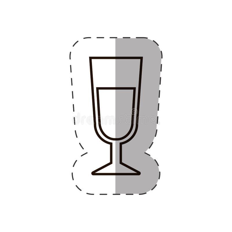de dranklijn van de glaskop royalty-vrije illustratie