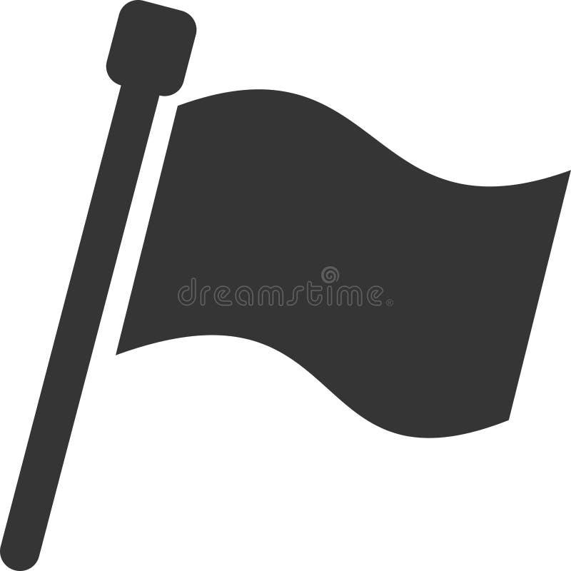 De drapeau de bannière simple vide rempli complètement - illustration stock
