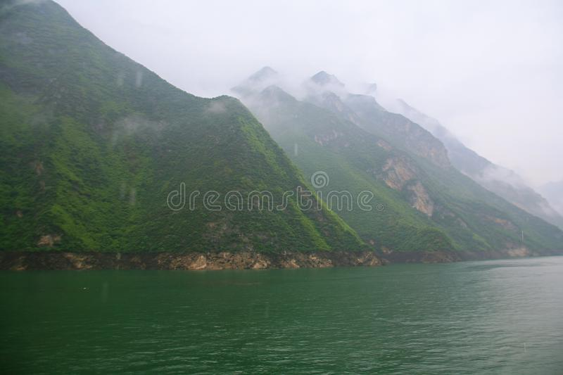 De Drie Kloven van de Yangtze-Rivier royalty-vrije stock afbeelding