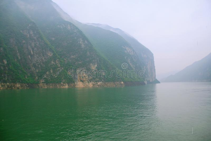 De Drie Kloven van de Yangtze-Rivier stock afbeeldingen