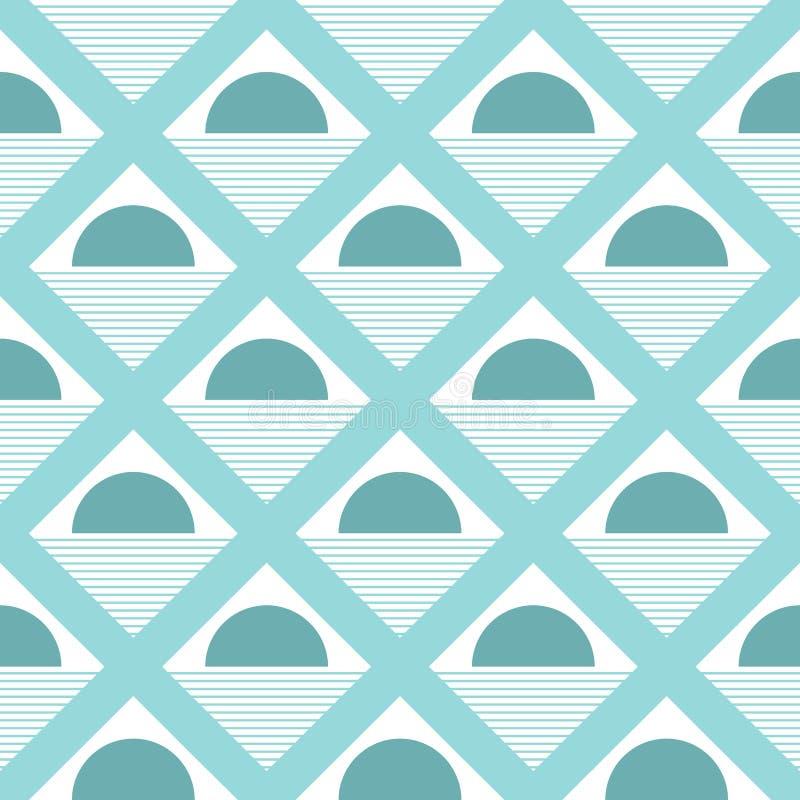 De driehoek gestalte gegeven achtergrond van het stippen naadloze patroon - vector stock illustratie