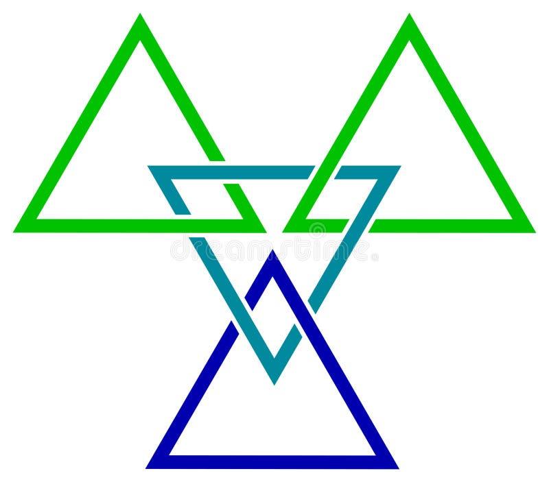 De driehoeken van de vlecht royalty-vrije illustratie