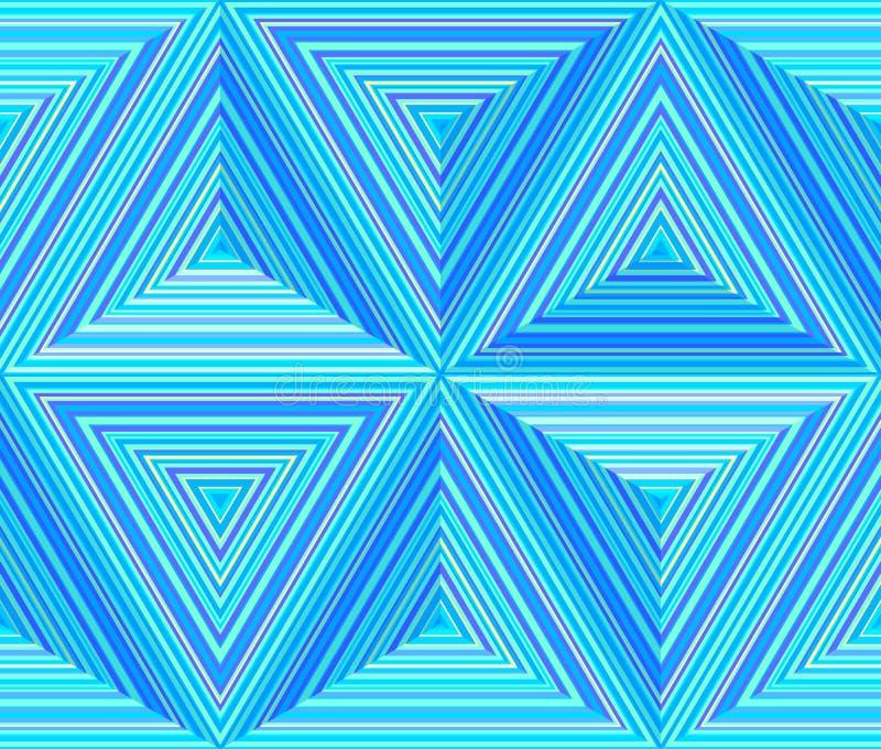 De driehoekige afmetingen, vatten geometrische herhaalbare achtergrond samen stock illustratie