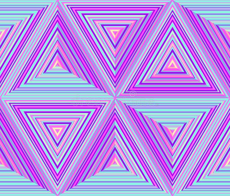 De driehoekige afmetingen, vatten geometrische herhaalbare achtergrond samen royalty-vrije illustratie