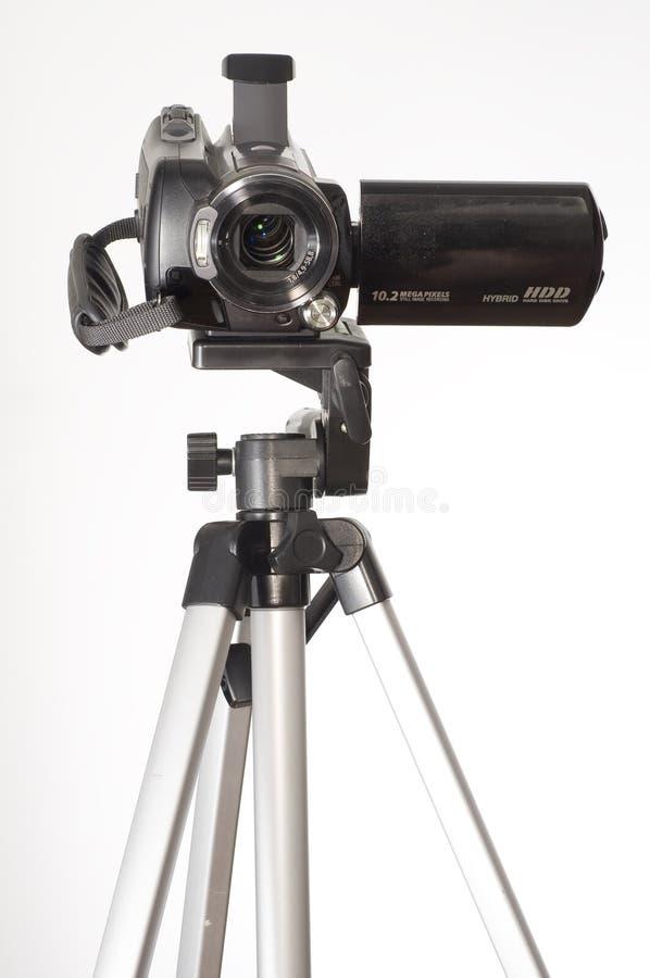 De driepoot van Handycam royalty-vrije stock foto