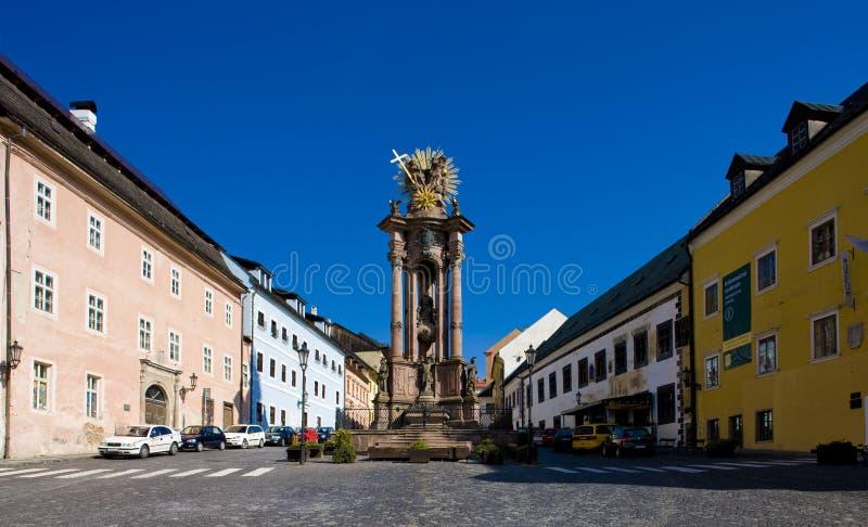 De Drievuldigheidsvierkant van heilige, Banska Stiavnica, Slowakije stock afbeeldingen