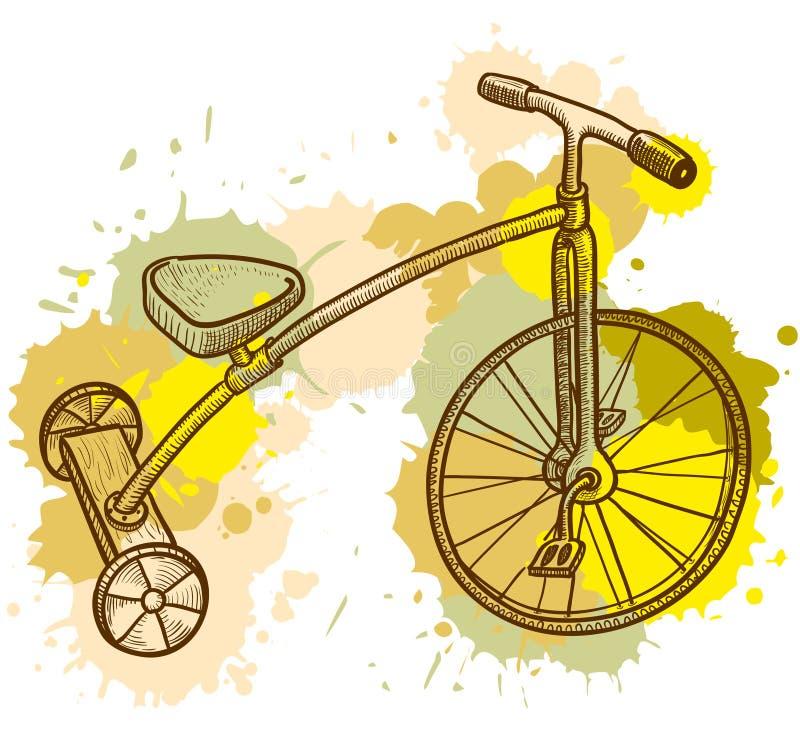 De driewieler van het jonge geitje vector illustratie