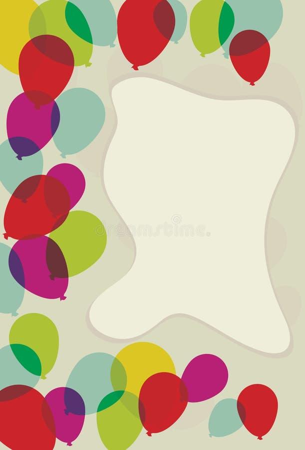 De drijvende Transparante Grens van de Pagina van de Ballon royalty-vrije illustratie