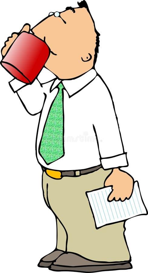 De Drinker van de koffie royalty-vrije illustratie