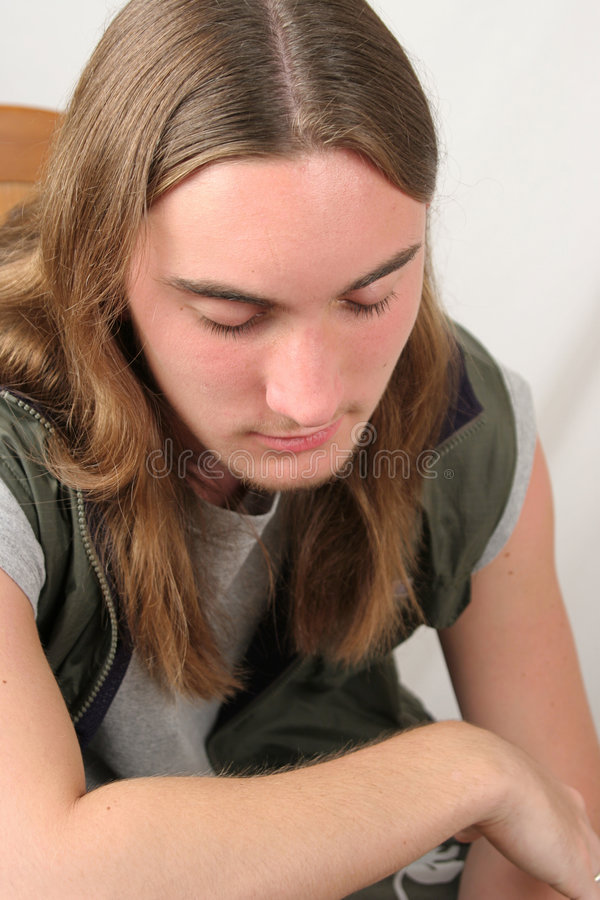 De droevige Jongen van de Tiener royalty-vrije stock fotografie