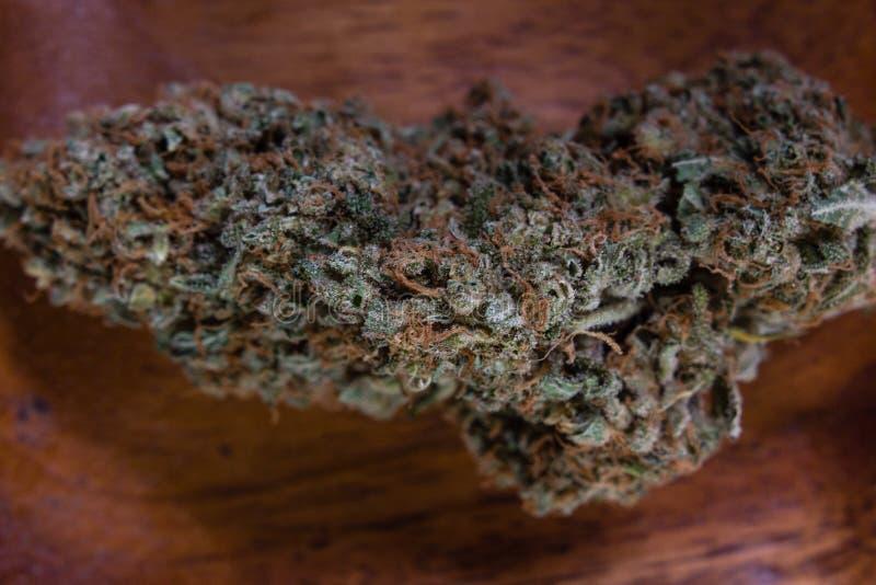 De droge knoppen van de cannabismarihuana royalty-vrije stock foto
