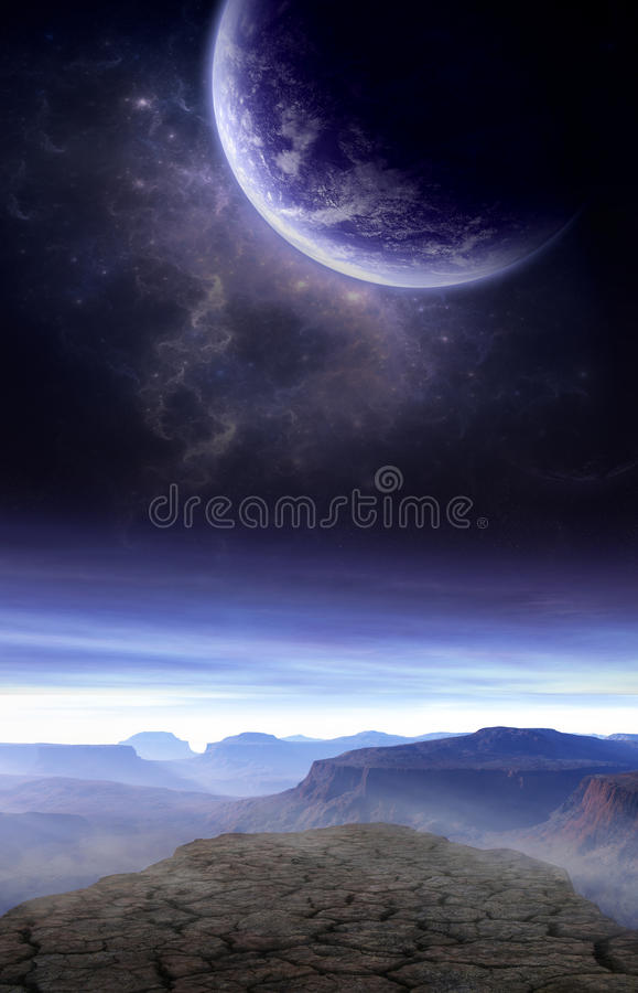 De droge Kosmos vector illustratie