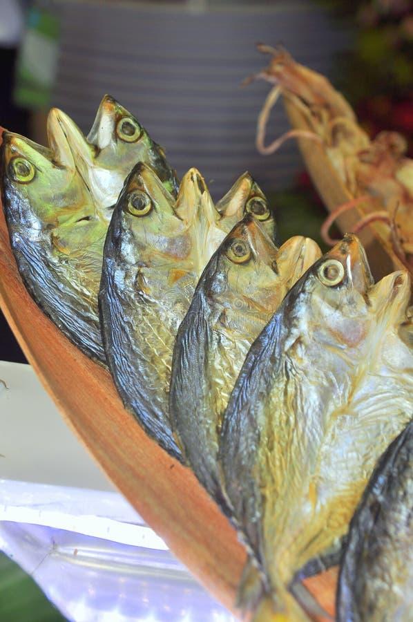 De droge zeevruchten worden geïntroduceerd bij zeevruchten tonen in Vietnam royalty-vrije stock foto's