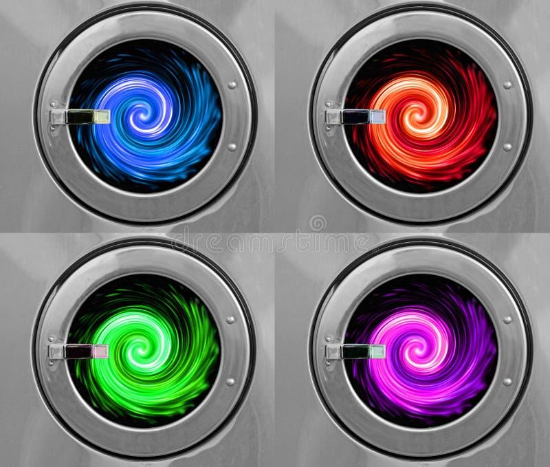 De drogere wasmachines van de cyclusrotatie royalty-vrije stock fotografie