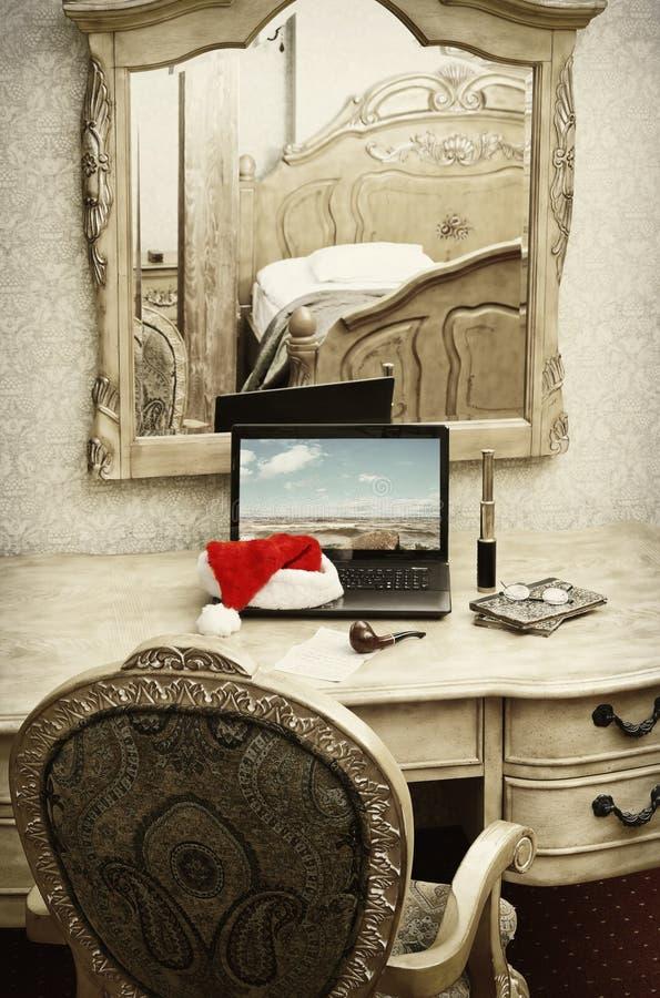 De Dromen van de kerstman stock afbeelding