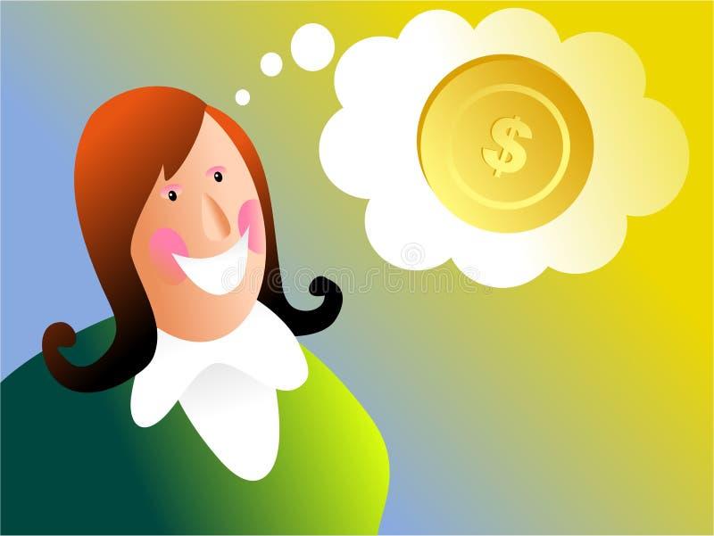 De dromen van het geld stock illustratie
