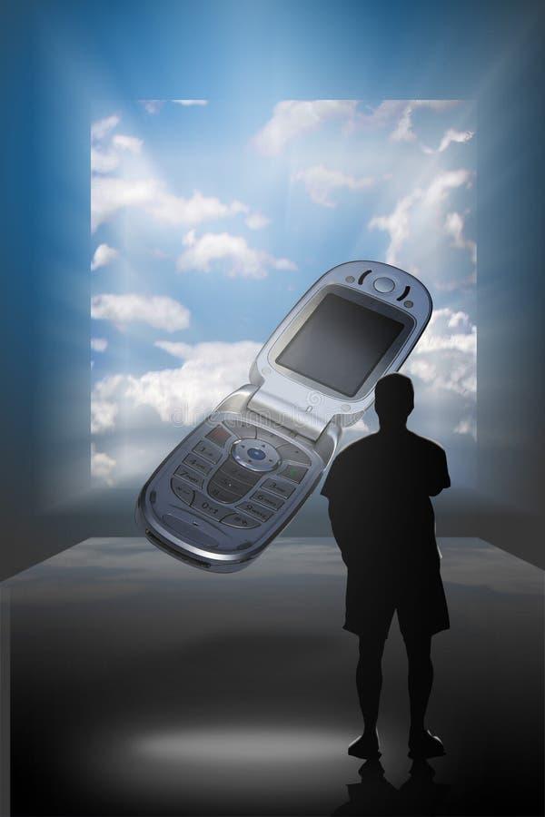 de dromende telefoons van de visieCel stock afbeeldingen