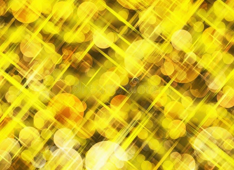 De dromerige achtergronden van bokeh lichte stralen stock illustratie