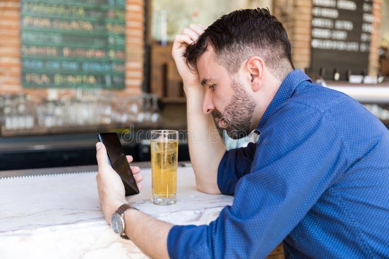 De dronken Teksten zijn nooit een Goed Idee stock afbeelding