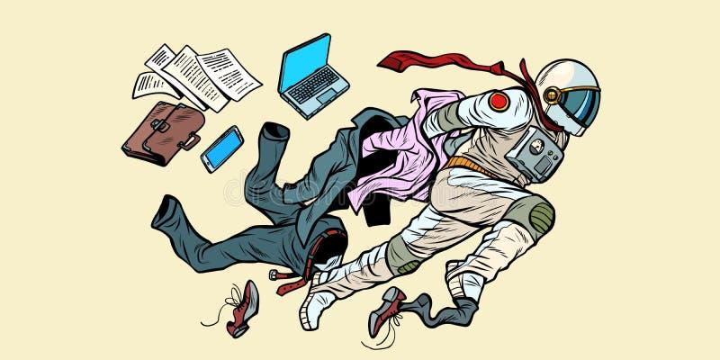 De droom van het zijn een astronaut, leider breekt van stereotypen uit royalty-vrije illustratie