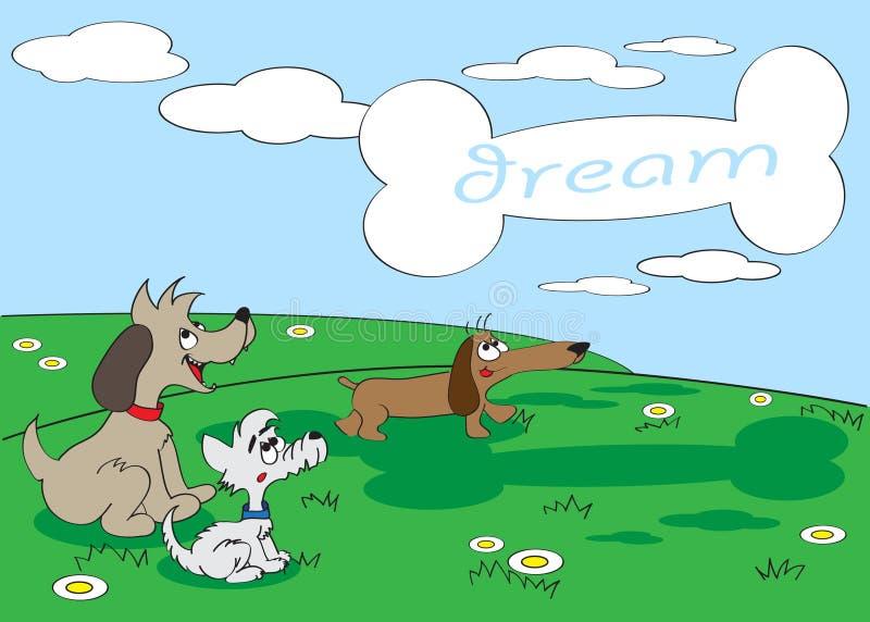 De droom van honden royalty-vrije illustratie