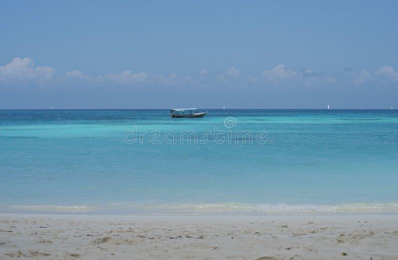 De droom van Zanzibar, Nungwi-strand Tanzania; royalty-vrije stock afbeelding