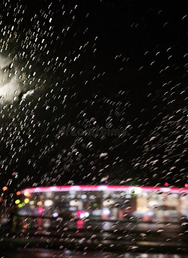 De droomfantasie van de regenstad stock foto's