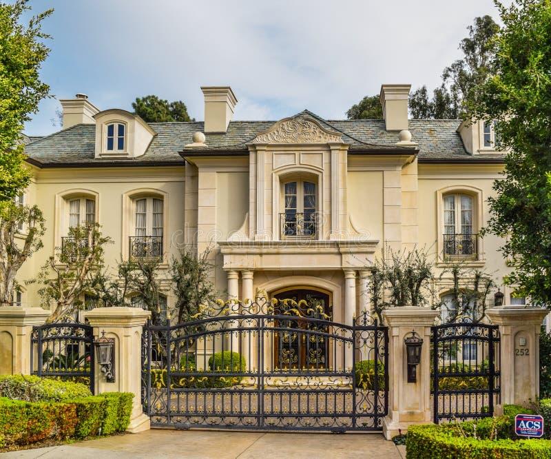De Droomhuizen Beverly Hills van Californië stock foto