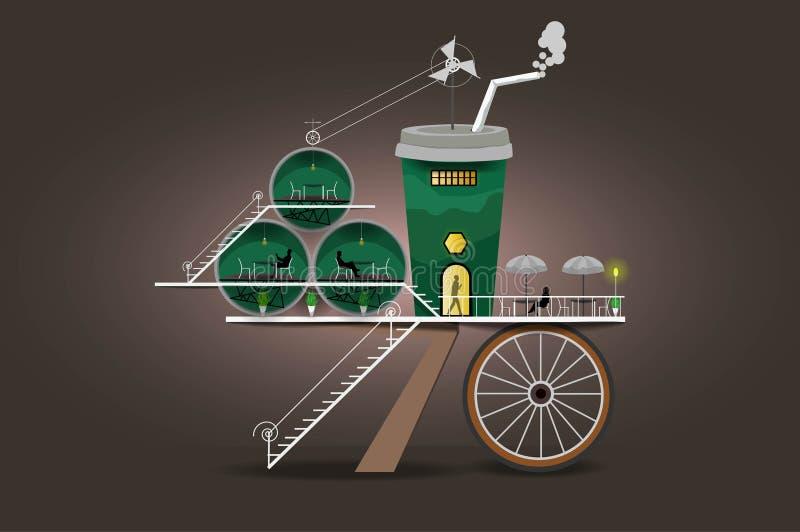 De droomkoffie stock illustratie