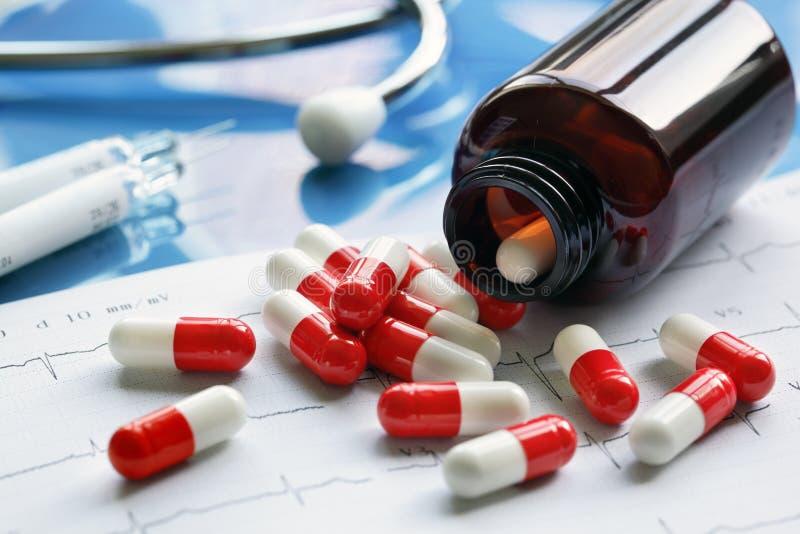De Drugs van het voorschrift stock afbeeldingen