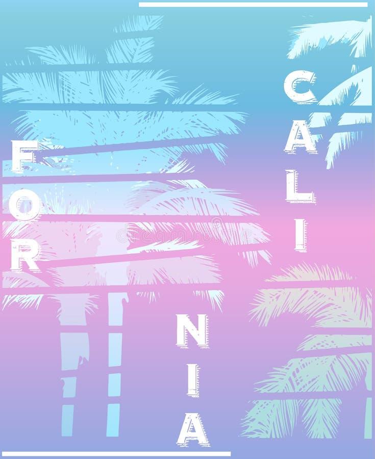 De druk van het de clubt-stuk van Californië Palm Beach royalty-vrije illustratie