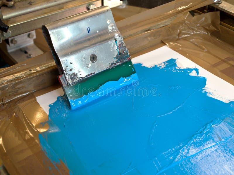 De drukapparaat van het scherm stock foto's