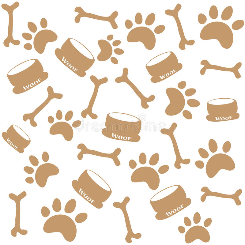 De drukken van de hondpoot royalty-vrije illustratie