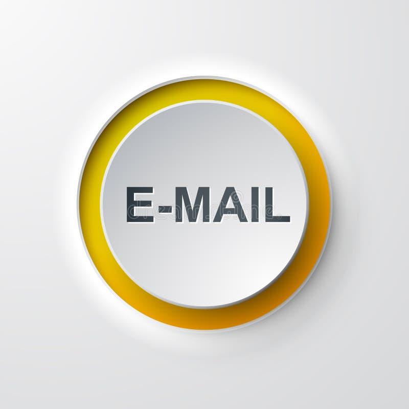 De drukknop e-mail van het Webpictogram royalty-vrije illustratie