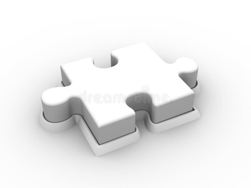 De Drukknop van het raadsel stock illustratie