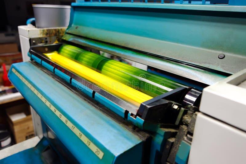 De drukmachine van de compensatie stock foto's