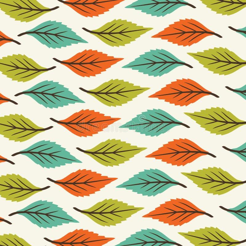De druksamenvatting verlaat Patroon vector groene oranje kleur vector illustratie
