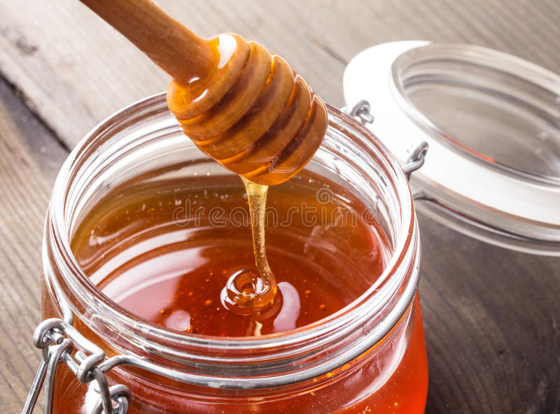 De druppel van de honing royalty-vrije stock foto