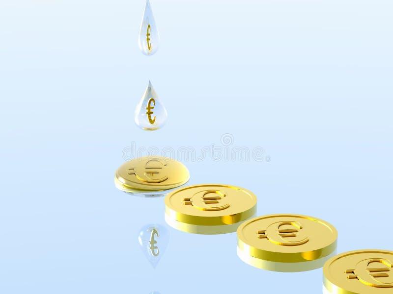 De druppel van het geld. vector illustratie
