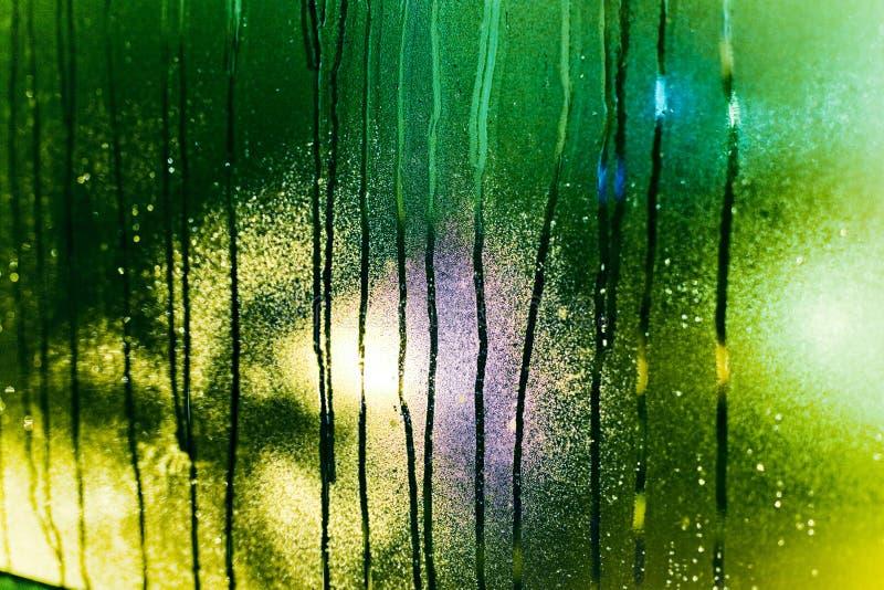 De druppeltjes van het water op glas royalty-vrije stock fotografie