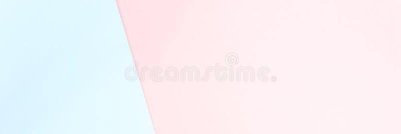 De dubbele kleuren blauwe en roze moderne vlakte legt backgound royalty-vrije stock foto