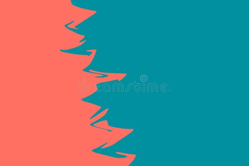 De dubbele kleuren blauwe en roze moderne vlakte legt backgound Het leven koraalthema - kleur van het jaar 2019 stock fotografie